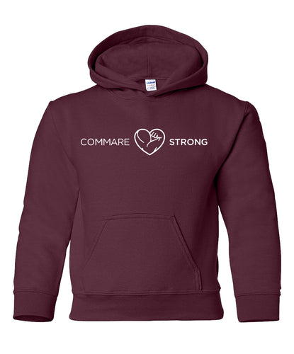 COMMARE STRONG -- Gildan Youth Hoodie (2 color options available!!)
