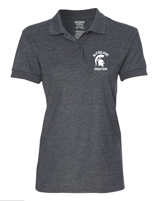 Spartan Women's Short Sleeve Polo - Dark Grey
