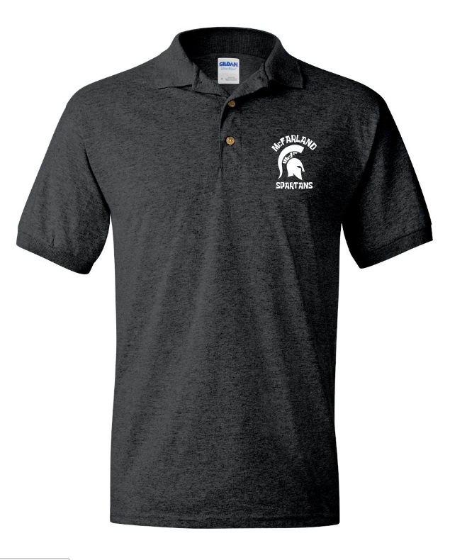 Spartan Men's Short Sleeve Polo - Dark Grey