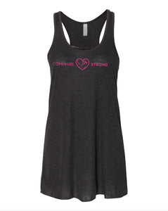 COMMARE STRONG -- Bella Women's Flowy Racerback Tank (3 color options available!!)