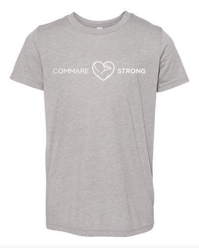 COMMARE STRONG -- Bella Youth Triblend T-shirt (2 color options available!!)