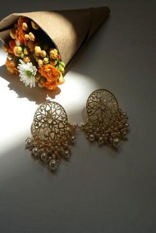 TULSI EARRINGS (PALE PINK)