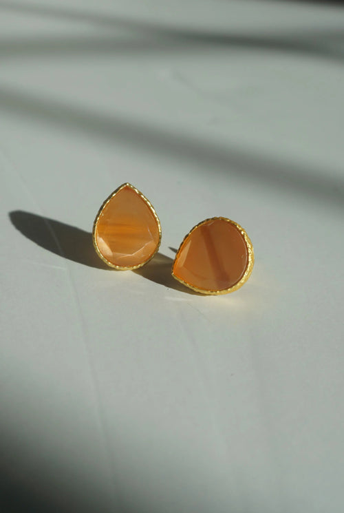 CARI STUDS (SUNSET PEACH)