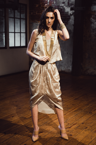 HANDKERCHIEF SKIRT-DRESS (SAND)
