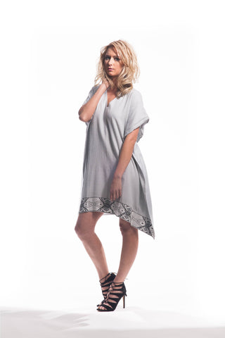 ZEN MINI DRESS (POWDER GREY)