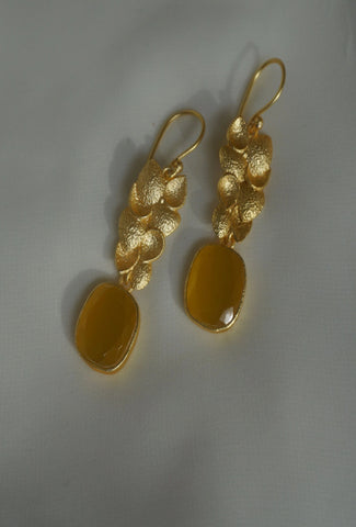 ASHERAH EARRINGS (SUNSET PEACH)