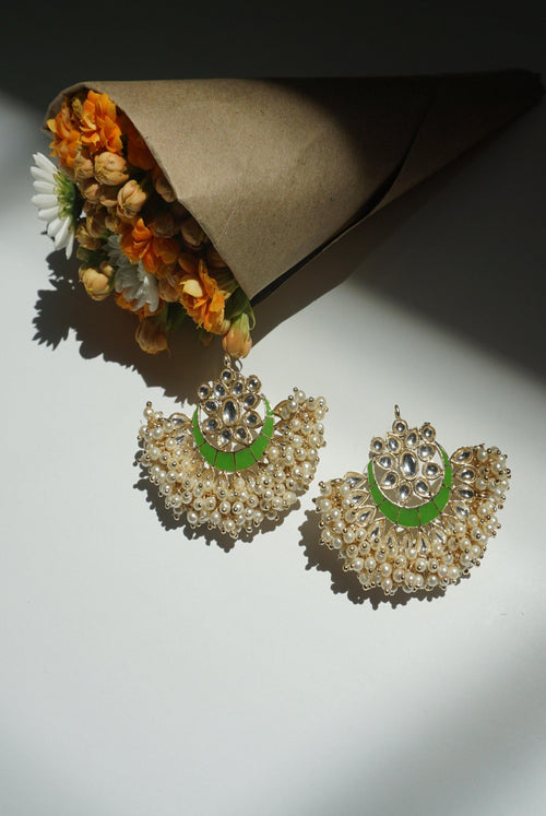 MEEZA EARRINGS (SPRING GREEN)