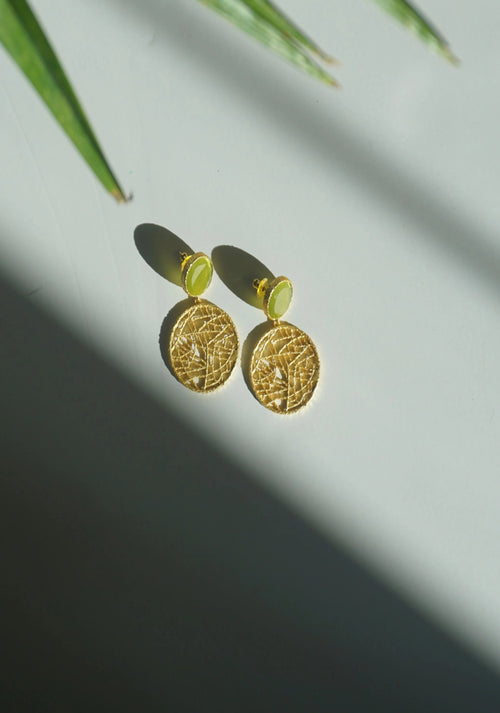 SORAYA EARRINGS (SEA GRASS)