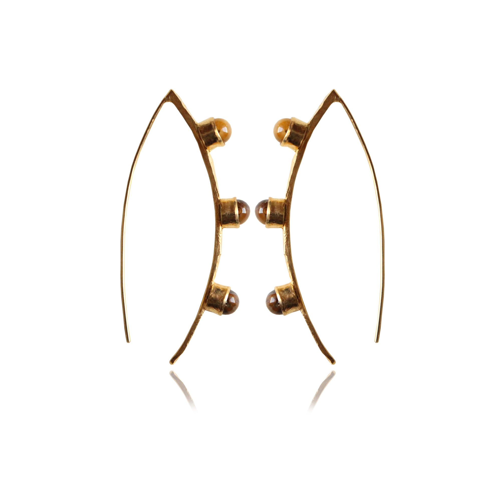 NADYA EARRINGS (Tiger Eye)