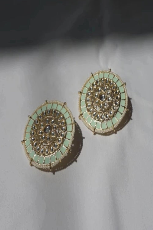 VEDA EARRINGS (PISTACHIO)