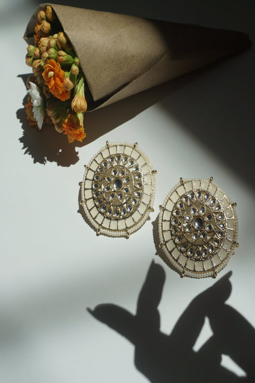 VEDA EARRINGS (IVORY)