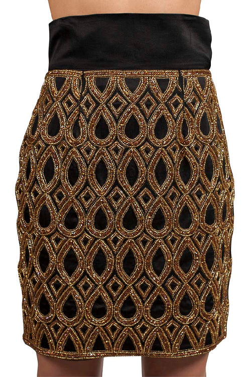 BEADED PENCIL SKIRT