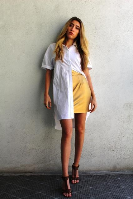 GOLD LUST MINI SKIRT