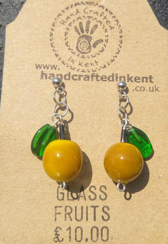 English Apple Earrings