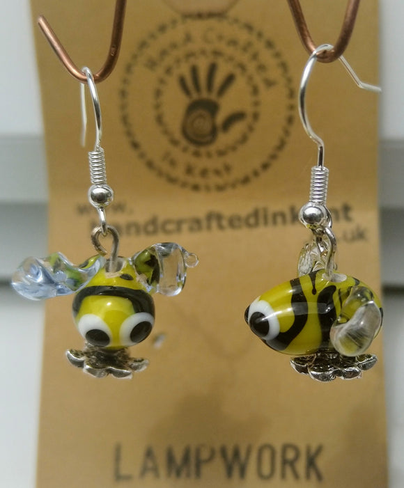 Lampwork Bee Earrings