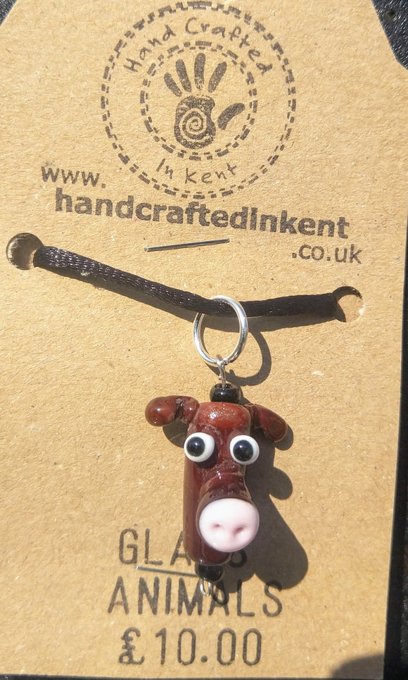 Brown Cow Pendant