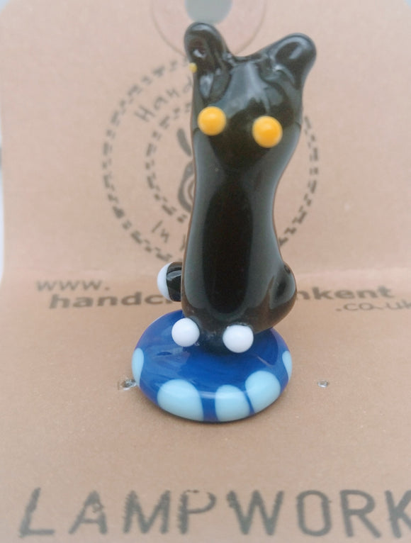 Lampwork Glass Cat Ornament 4
