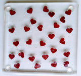 Fused Glass Heart Coasters