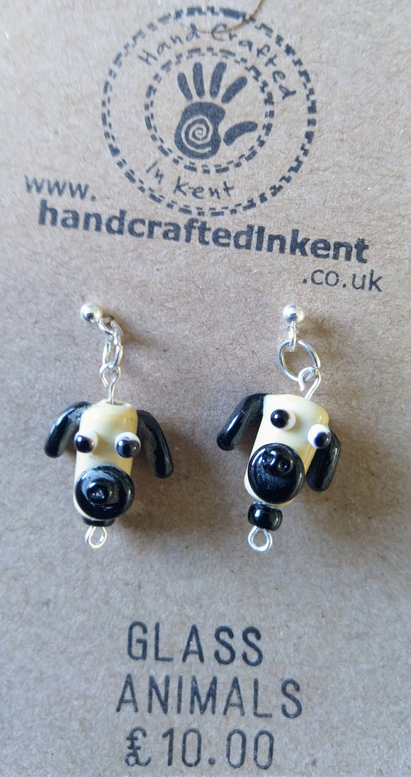 Lampwork Pug Earrings