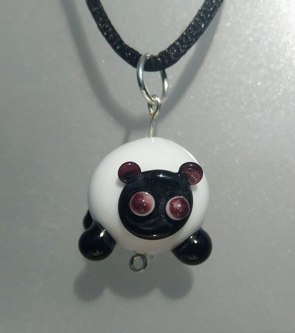 Lampwork Sheep Pendant