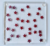 Fused Glass Copper Star Coasters