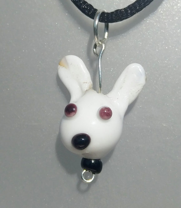 Lampwork White Rabbit