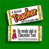 A Great Teacher Candy Bar Wrapper