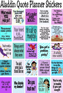 Plan out your week with these Alddin Quote planner sticker printables. #disneyaladdin #aladdinquotes #plannersticker