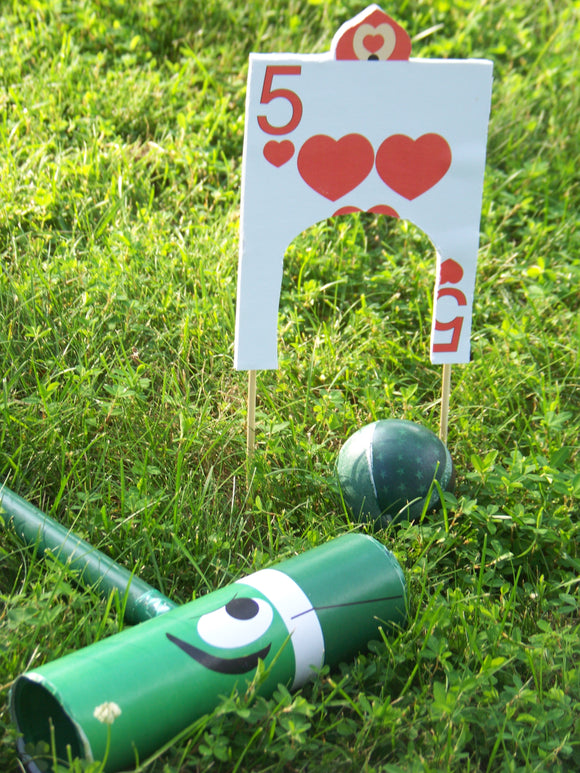 Alice in Wonderland DIY Croquet Instructions and Printable