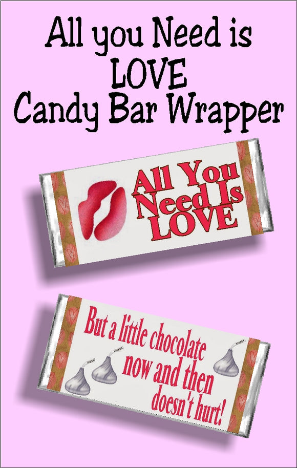This printable candy bar wrapper is perfect for your single friends and your loved ones this Valentine's day or any time of year.