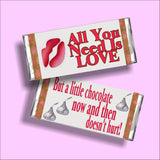 All You Need is Love Candy Bar Wrapper Printable