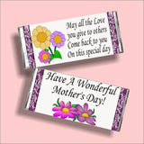 All the Love Mothers Day Candy Bar Wrapper