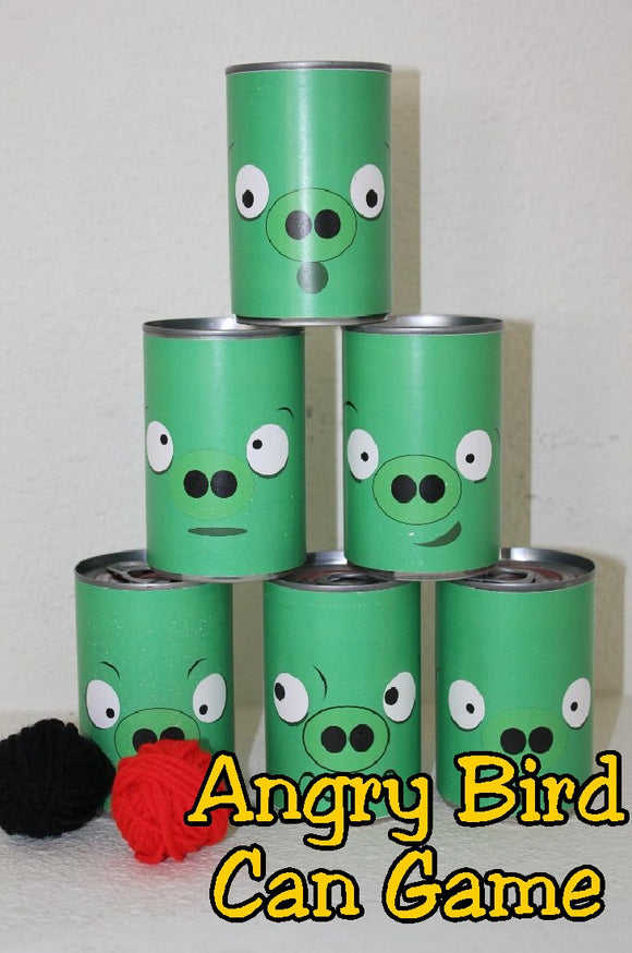Angry Bird Can Game Printable