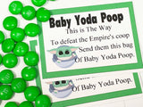 Baby Yoda Poop Bag Topper Printable