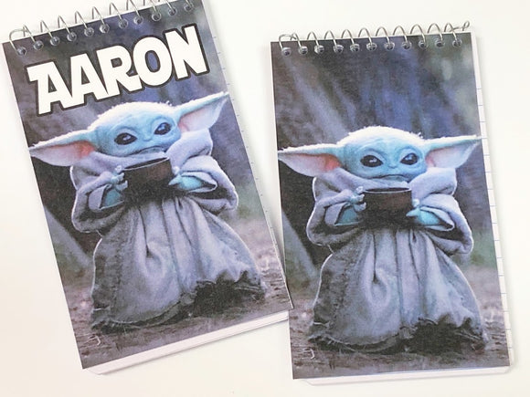 Baby Yoda Personalized  Notebook