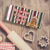 Baking Gingerbread Christmas Candy Bar Wrapper