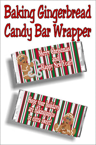 Wish your friends a Merry Christmas and a Happy New Year with this candy bar wraper Christmas card printable. Wrap it around a Hershey candy bar and you have a sweet card that's unique and yummy.