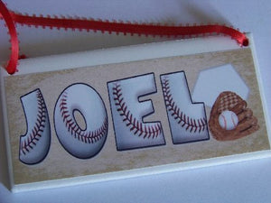 Baseball Dirt Personalized Name Plaque