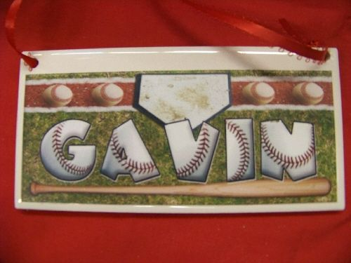 Baseball Home Run Personalized Name Plaque