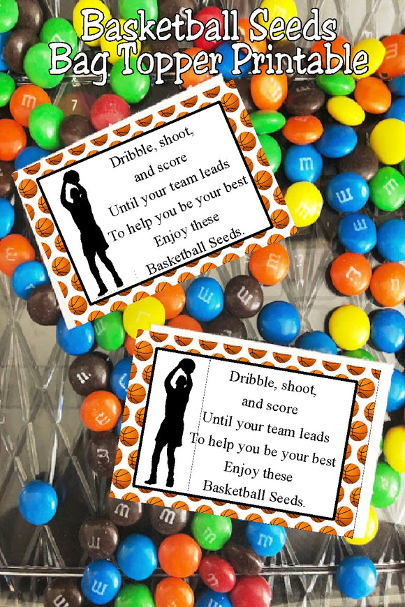 Basketball Seeds Bag Topper Printable