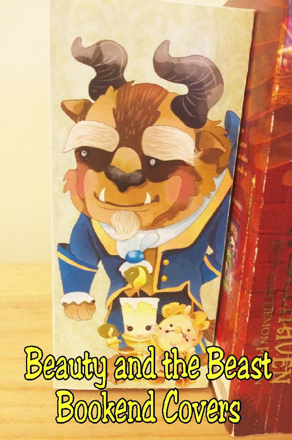 Let Belle and the Beast protect and corrall your favorite books with these Beauty and the Beast printable bookend covers.  Covers are easy to print, cut, glue, and put together to keep your library in order.