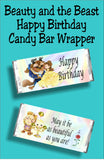 Happy Birthday....may it be as beautiful as you are! Wish someone a Happy birthday with this Beauty and the Beast birthday candy bar wrapper.  Perfect for when you are attending a Beauty and the Beast party or use as a party favor for your party bags.