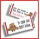 Big Deal Valentine Printable Candy Bar Wrappers