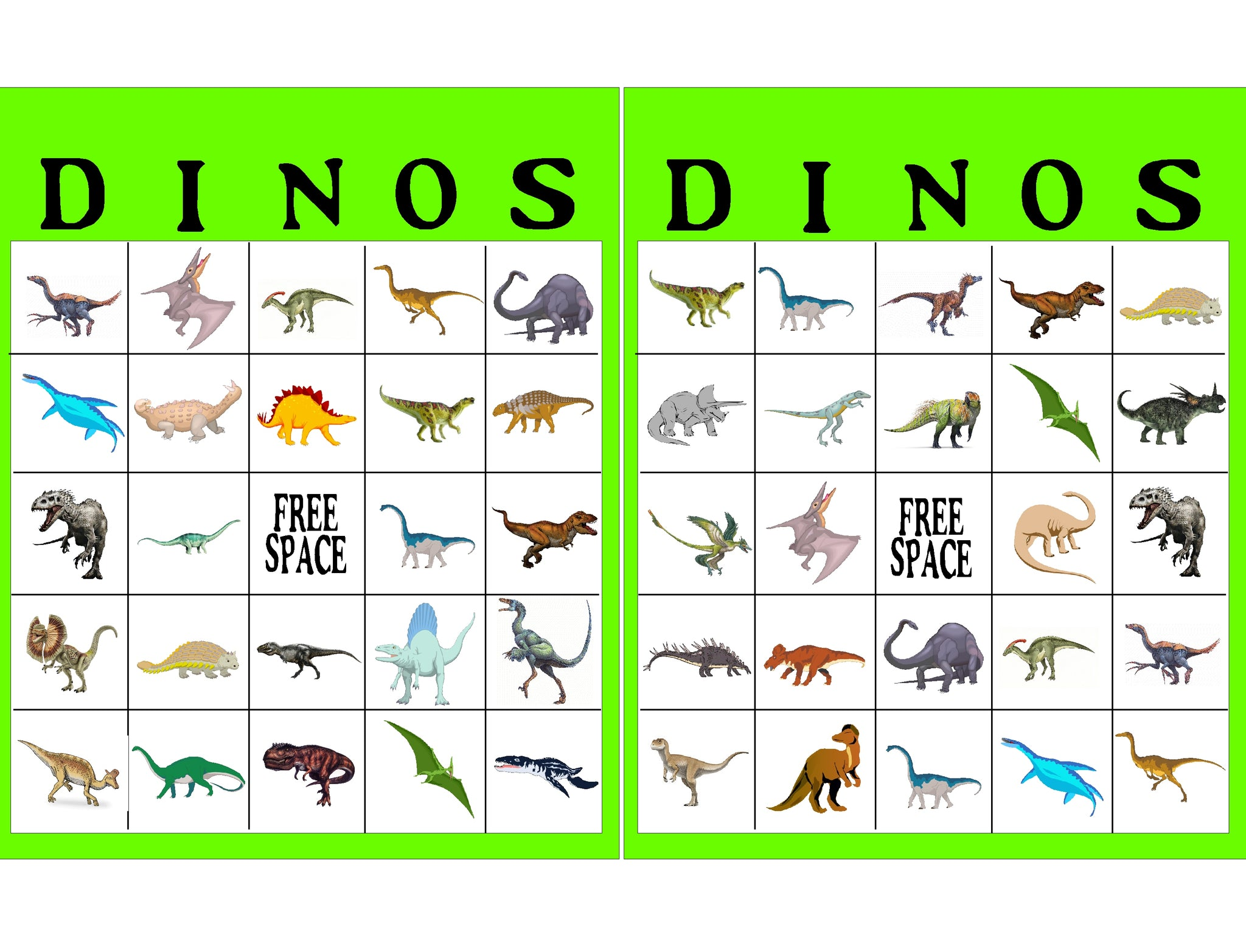 Dinosaur Bingo Game Printable – EverydayParties
