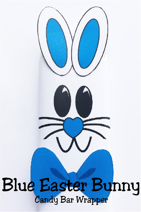 Celebrate Easter with some one you love by giving them this cute blue Easter bunny candy bar.  This candy bar is the perfect addition to an Easter basket or class party.