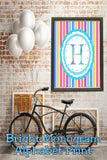 Decorate your home, office, or bedroom with this bright monogram H print. Print has a great spring feel and would be perfect for Easter decor or as a beautiful party decoration.
