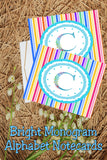 Create beautiful spring notecards with these bright monogram C notecards.  Note cards are simple to print and use and will make writing someone a super special note.