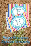 Create beautiful spring notecards with these bright monogram E notecards.  Note cards are simple to print and use and will make writing someone a super special note.