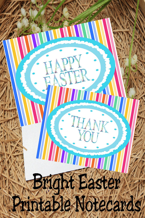 Send a sweet Happy Easter note or a Thank You note this spring with these beautiful and fun printable notecards. Notecards come with both a Thank You greeting and a Happy Easter greeting for the perfect note this Easter holiday.