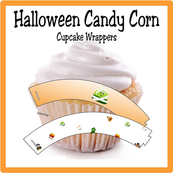 Candy Corn Cupcake Wrappers